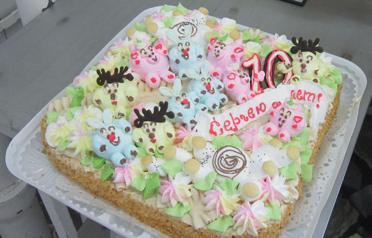 Торт с картинкой новый год