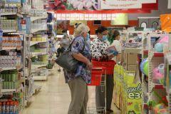 ...и в больших гипермаркетах. Фото Максима БОБРОВАА теперь гуляй по свету,  хочешь в маске, хочешь без? #стопкоронавирус