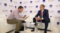 ПМЭФ-2019: Михаил Игнатьев дал интервью информационному агентству ТАСС ПМЭФ-2019