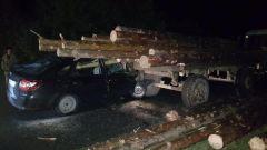 Место ДТП. Фото ГИБДД ЧувашииВ Алатырском районе произошло ДТП с трактором, есть погибшая ДТП со смертельным исходом