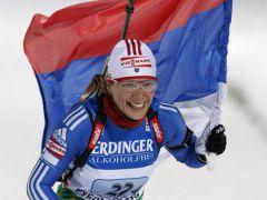120892.jpgОльга Зайцева принесла России первое золото в Кубке мира по биатлону Спорт биатлон