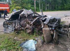 Место ДТП. Фото rusdtp.ruВ Канашском районе в ДТП погибли двое молодых людей ДТП со смертельным исходом