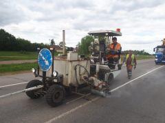 Минтранс Чувашии: ко Дню Республики на дорогах региона должна быть нанесена дорожная разметка дорожная разметка