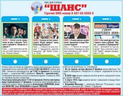 """Тур викторины """"Шанс"""" за 10 февраля: опять четыре счастливых шанса! SMS-викторина """"Шанс"""""""