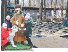 К концу ноября в Ельниковской роще откроется площадка с фигурами героев известных мультфильмов. Фото Ирины ХАННАВ роще поселился  почтальон Печкин Ельниковская роща