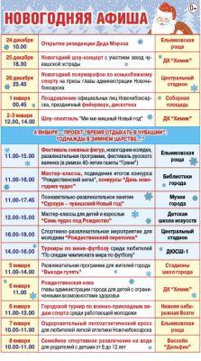 Новогодняя афиша Новочебоксарска (0+)