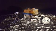 В Чебоксарском районе произошла авария с участием молоковоза ДТП