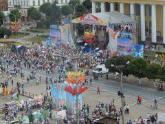 Виды на Красную площадь Чебоксар с нового колеса обозрения (фото) День города Чебоксары-2018