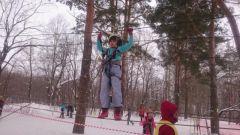 В Ельниковской роще состоялись республиканские соревнования по спортивному туризму на лыжных дистанциях