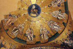 Пятидесятница. Мозаичный свод. Фрагмент. Осиос Лукас, Греция. XII векКак правильно провести Троицкую родительскую субботу троица