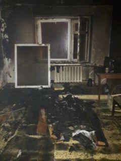 Фото ГУ МЧС ЧувашииПожар в общежитии на улице Советской  пожар