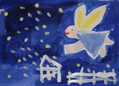 Таких ангелов рисовали дети с ограниченными возможностями здоровья в Художественном музее в ходе совместного проекта.Спасите наши жизни! Аборты Актуально