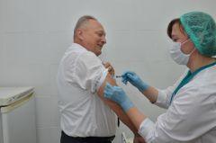Фото Валерия БАКЛАНОВАЗащищающий укол прививки грипп