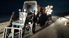 Кадры оперативной съемки с места ДТП 7 декабря на 126-м км автодороги Калинино — Батырево — Яльчики. Ночные призраки — убийцы на дорогах ДТП