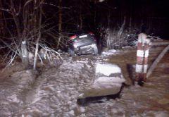 вечернее ДТП В Новочебоксарске за один день в кювете оказались две машины. Водитель одной скрылся с места ДТП  кювет ДТП ГИБДД авто