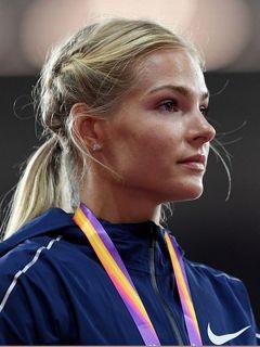 Дарья Клишина.Выиграли медали  меньшим числом легкая атлетика