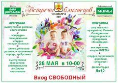 афишаВ Чебоксарах пройдет фестиваль двойняшек и тройняшек близнецы
