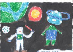 Выставка рисунков ко Дню космонавтики Выставка рисунков