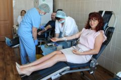 Донорская акция14 литров крови сдали доноры на Чебоксарской ГЭС РусГидро