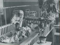 Архивное фото 1959 года.В ясли — с пеленок ясли десятилетие детства