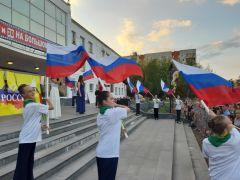 Фото Андрея СергееваДень флага России отметили в Новочебоксарске День флага России