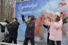 Перед зрителями выступили юные артисты.Вот ты какой, русский валенок! Фестиваль русского валенка