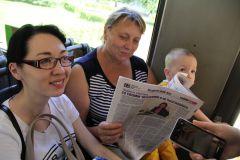 Валентина Ивановна, пенсионерка Читает троллейбус, читает весь город Наша акция