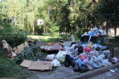 На ул. Терешковой, 12. Фото Марии СМИРНОВОЙОтходы не помещаются  в контейнеры мусор в городе мусор