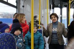 IMG_0579.jpgГлава Чувашии привез в Новочебоксарск первый междугородний троллейбус троллейбус Чебоксары - Новочебоксарск троллейбус