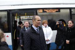 IMG_0689.jpgГлава Чувашии привез в Новочебоксарск первый междугородний троллейбус троллейбус Чебоксары - Новочебоксарск троллейбус