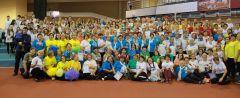 300 самых замечательных новочебоксарок провели субботний день в СШОР-3.  Фото Марии СМИРНОВОЙМы команда хоть куда,  ждет успех нас навсегда! спартакиада женских клубов