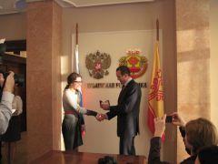 IMG_1042.JPGМихаил Игнатьев встретился с ученицей Новочебоксарской СОШ №8