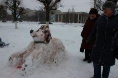 В Ельниковской роще состоялся конкурс снежных фигур