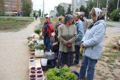 ...но бабушки предпочитают тротуар. Фото Марии СМИРНОВОЙМини-рынок без базара мини-рынки
