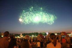 IMG_1979.JPGФеерия огня и музыки Салют Международный фестиваль фейерверков День Республики-2015