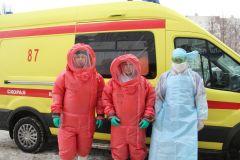Врачи обеспечены защитными костюмами.Вирус не проскочит. В Чувашии прошли учения по защите от коронавируса коронавирус