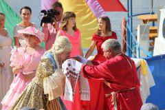 Акатуй по-марпосадски: в город прибыли Екатерина II, бурлаки на Волге, Емельян Пугачев акатуй