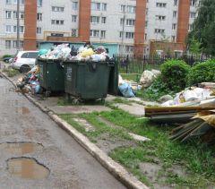 Ул. 10-й пятилетки, 66. А ведь доля вины в том, что несвоевременно вывозят мусор, есть и у горожан-неплательщиков коммунальных услуг.Не снимайте мусор с повестки дня Народный контроль