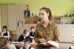 Ангелина Антонова и ее второклассники. Фото Максима БОБРОВАМолодым везде у нас дорога