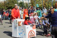 Второй год украшением праздника стал парад юных велосипедистов. Творцы нашего города День города Новочебоксарск-2019