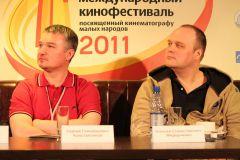 Сергей Константинов (слева) и Алексей Федорченко.  Фото автора.Свой среди своих Чебоксарский международный кинофестиваль