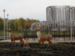 Недавно в сквере Шевницына появилось целое семейство оленей.   Фото Максима БоброваСквер Шевницына  к приемке готов  Реализация нацпроектов
