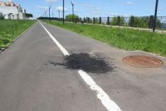 ...и стало. Фото автора и Максима БОБРОВАЯмы нет, дорожка ровная! велодорожка