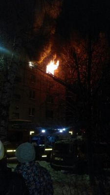 Фото Т. ГлининаВ Новочебоксарске горела квартира (видео) пожар