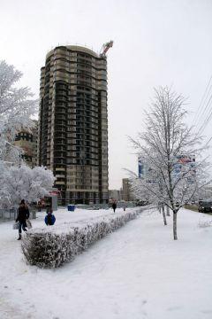 """На 82 метра поднялись этажи самого высокого дома Новочебоксарска.""""Спутнику"""" придали высоту. 939 квартир будет построено в микрорайоне жилье ООО """"Комплекс"""""""