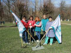 Химики приняли участие в городском субботнике Химпром