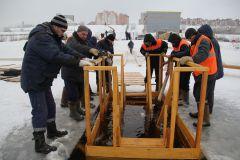 В Новочебоксарске полным ходом идет подготовка к крещенским купаниям (фото, видео) Крещение