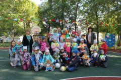Малыши из детсада ПоляночкаЧебоксарская ГЭС подарила особенным малышам спортивную площадку РусГидро