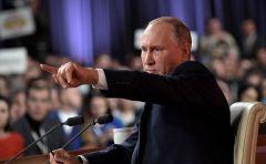 Владимир Путин в ходе большой пресс-конференции ответил на 65 вопросов. Фото kremlin.ruРассчитываю на широкую поддержку граждан Пресс-конференция Владимира Путина
