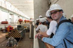 На монтажной площадке130 студентов-гидротехников познакомились с Чебоксарской ГЭС РусГидро